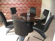 Set of 6 Stunning Faux Leather Dining Chairs