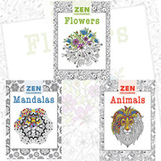 wholesale booksZen Colouring Art Collection Creative Adult Colouring B