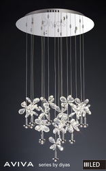 Buy Aviva Pendant Round 16 Light 4000K LED Polished Chrome