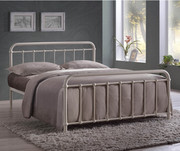 Time Living Miami Ivory Metal Bed Frame | Furniture Direct UK