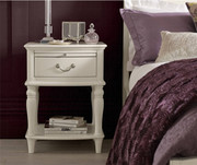 Bentley Designs Bordeaux Ivory 1 Drawer Nightstand