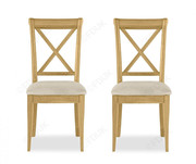 Bentley Designs Chantilly X Back Dining Chair in Pair