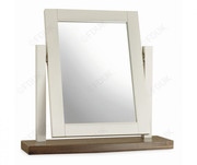 Bentley Designs Hampstead Soft Grey and Walnut Vanity Mirror