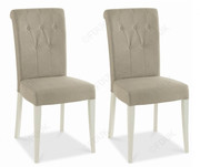 Bentley Designs Hampstead Soft Grey and Oak Upholstered Dining Chairs