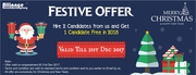 Alliance Recruitment Agency Christmas and New Year Offers