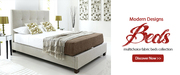Fabric Beds Only on £108.00 + FREE DELIVERY | Beds Direct UK