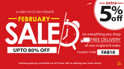 UP TO 80% + FLAT 5% OFF on All Furniture | February Furniture Sale
