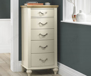 Buy Bentley Designs Montreux Pale Oak and Antique White 5 Drawer Tall