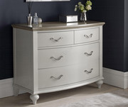 Bentley Designs Montreux Washed Oak and Soft Grey 2+2 Drawer Chest