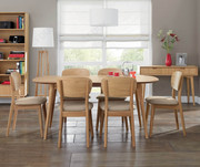 Best Sale ! Bentley Designs Oslo Oak 6-8 Extension Dining Table |Chair