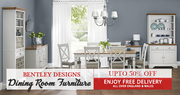 Bentley Designs Hampstead Soft Grey and Oak Dining Room | May Day Sale