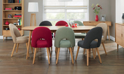Bentley Designs Oslo Oak 6-8 Extension Dining Table with 8 Chairs