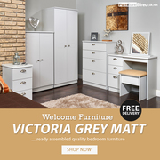 Welcome Victoria Grey Matt Bedroom Furniture Sale | Wardrobes