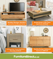 Up to 75% Off on Bentley Designs Living & Bedroom Furniture Sale