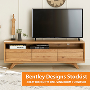 Bentley Designs Cadell Rustic Oak Entertainment Unit