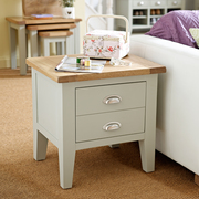 Besp Oak Vancouver Expressions Grey 1 Drawer Lamp Table FDUK