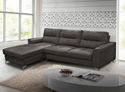 Vida Living Tanaro Grey Leather Corner Group Sofa | Sofas Shop