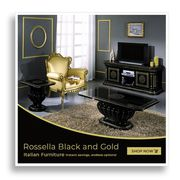 Rossella Black and Gold Italian Furniture at Furniture Direct UK